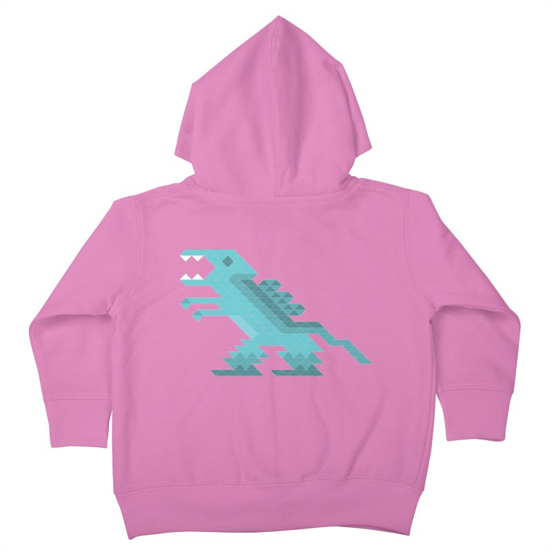 Cube-O-Saur Kids Toddler Zip-Up Hoody by Ominous Artist Shop