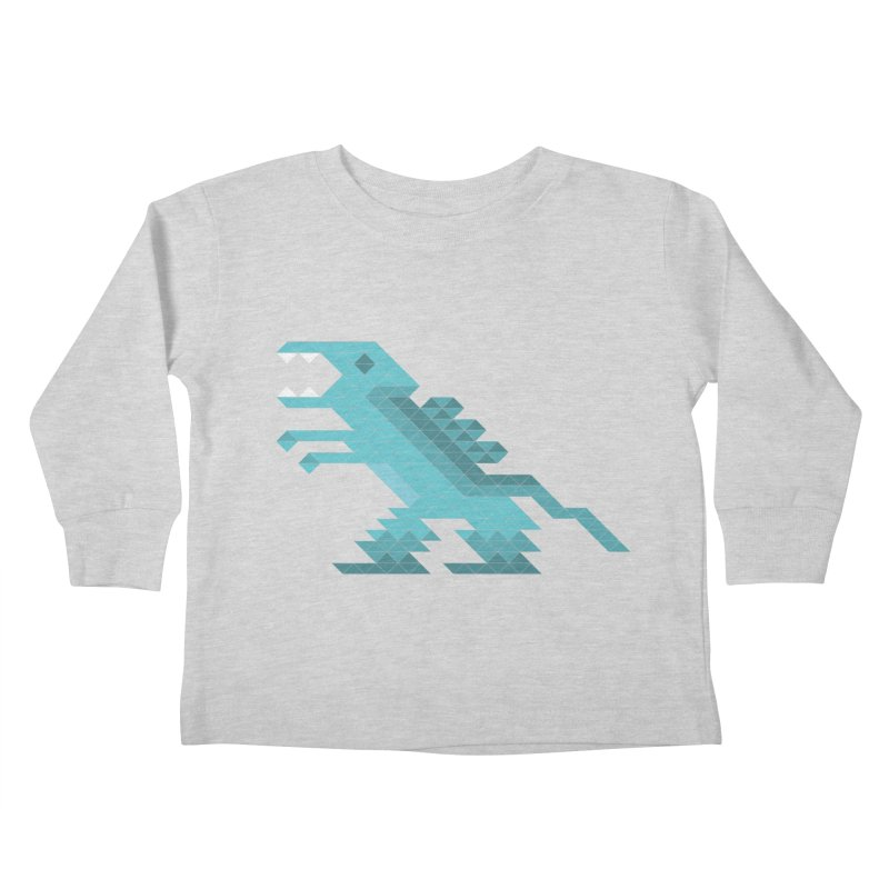 Cube-O-Saur Kids Toddler Longsleeve T-Shirt by Ominous Artist Shop