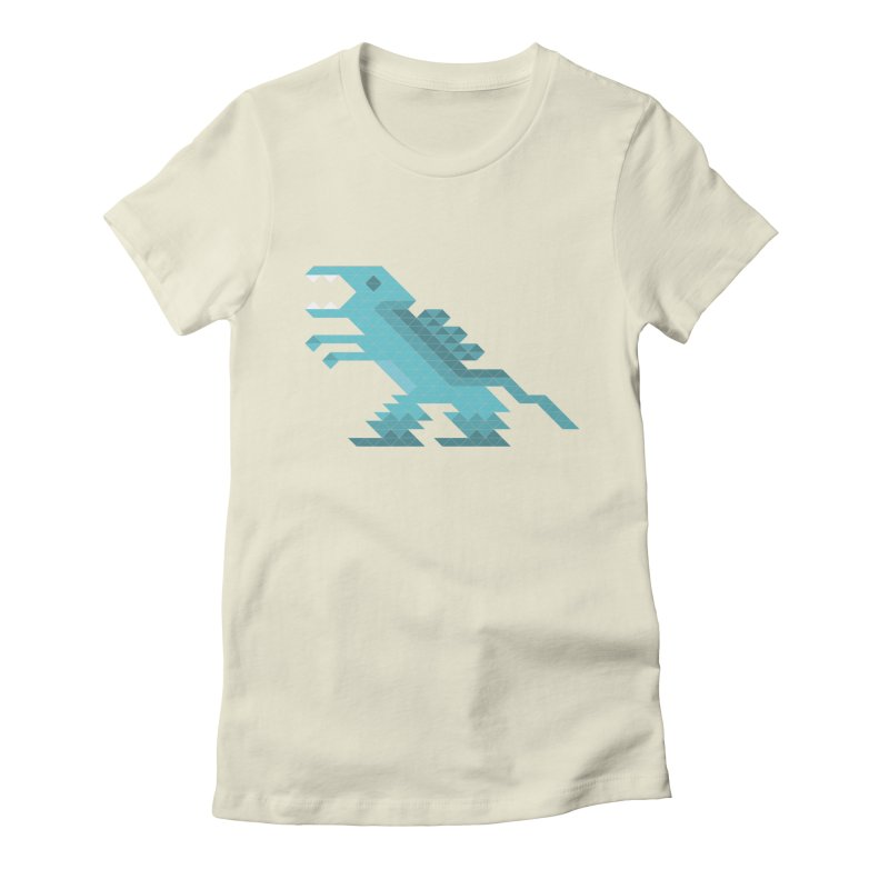 Cube-O-Saur Women's Fitted T-Shirt by Ominous Artist Shop