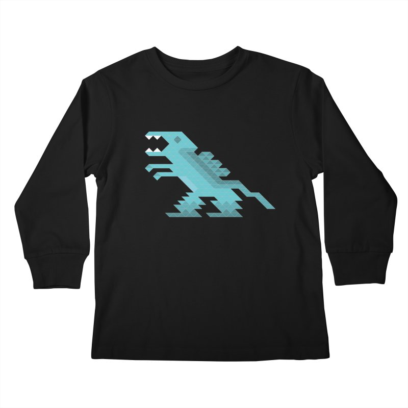 Cube-O-Saur Kids Longsleeve T-Shirt by Ominous Artist Shop