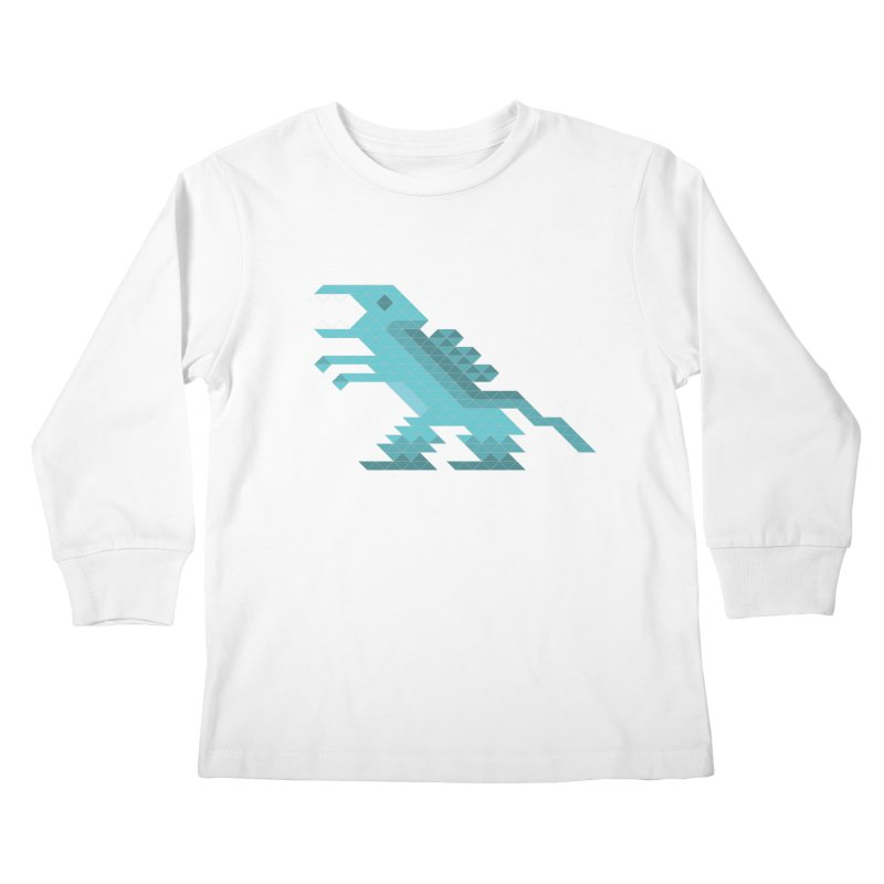 Cube-O-Saur Kids Longsleeve T-Shirt by Ominous Artist Shop