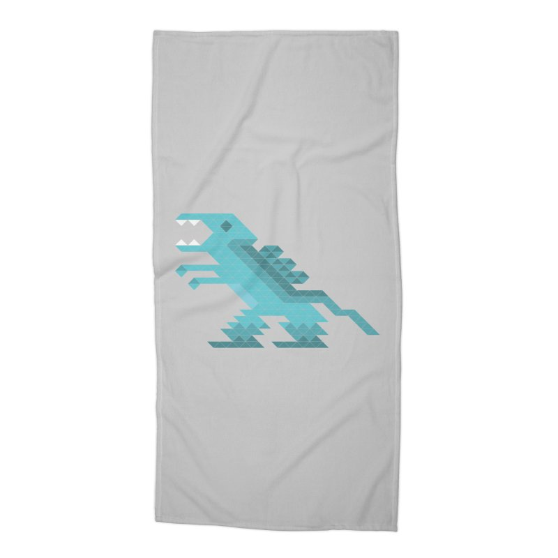 Cube-O-Saur Accessories Beach Towel by Ominous Artist Shop