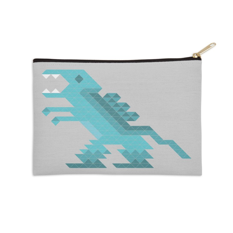 Cube-O-Saur Accessories Zip Pouch by Ominous Artist Shop
