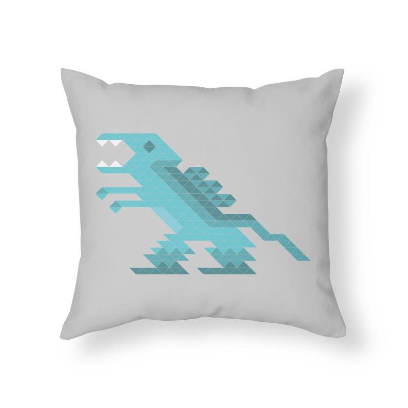 Cube-O-Saur Home Throw Pillow by Ominous Artist Shop