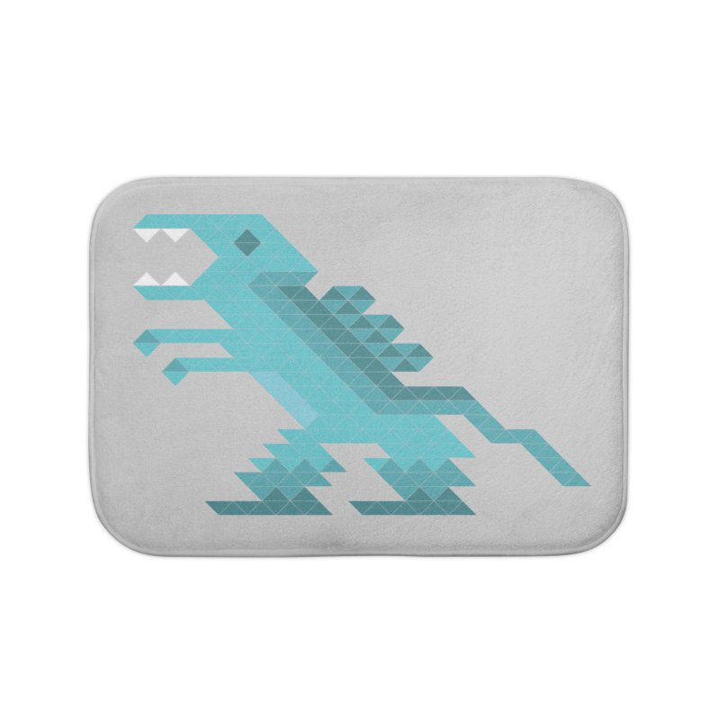 Cube-O-Saur Home Bath Mat by Ominous Artist Shop