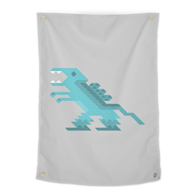 Cube-O-Saur Home Tapestry by Ominous Artist Shop