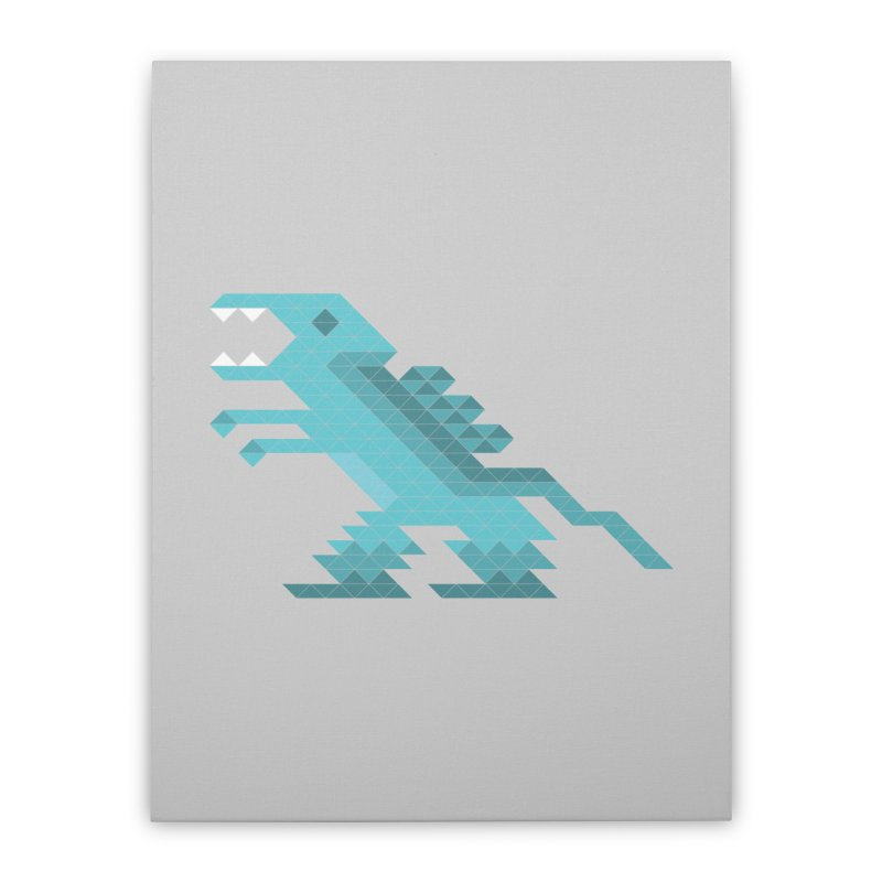 Cube-O-Saur Home Stretched Canvas by Ominous Artist Shop
