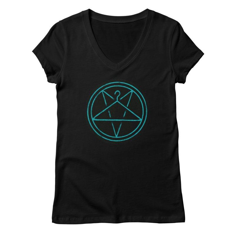 Ritualistic Human Sacrifice Women's V-Neck by Grindhouse Press Merchandise