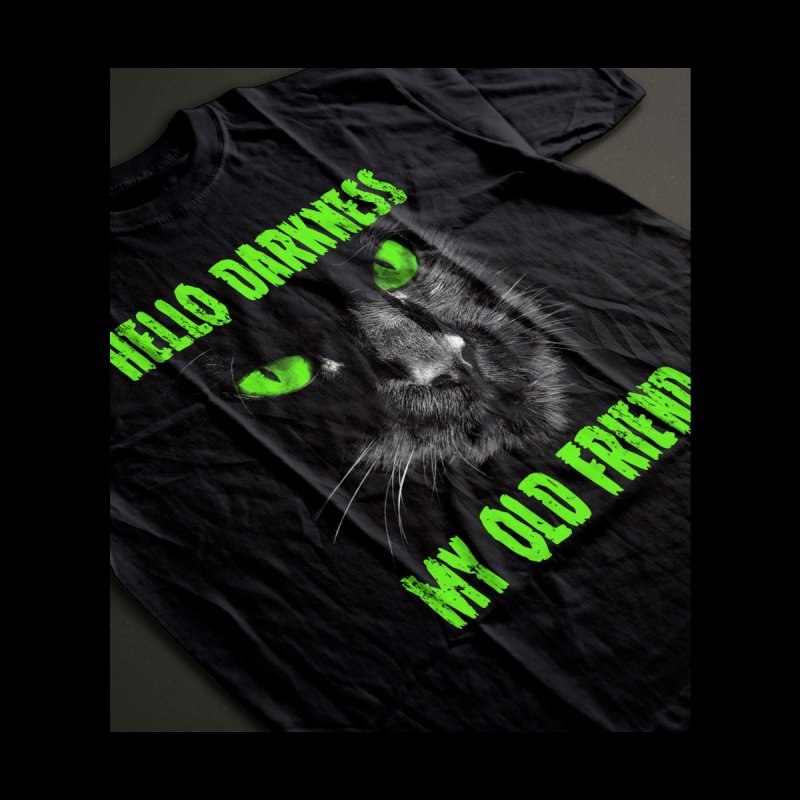 Hello Darkness Cat - Green Eyes Men's Cut & Sew by GritFX T-Shirts