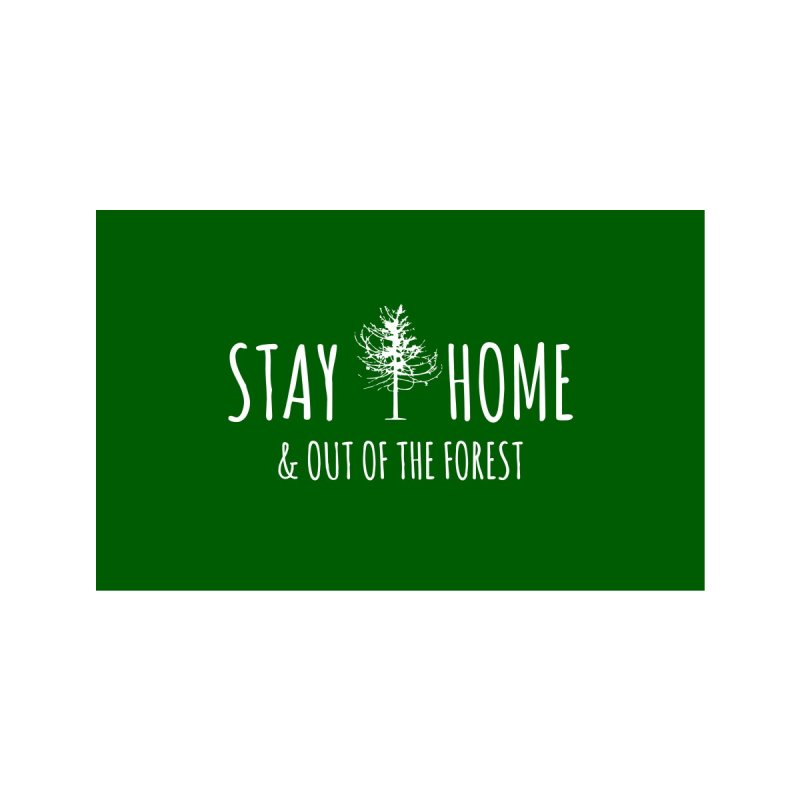 Stay Home (Stay Out of the Forest) Accessories Face Mask by Gritty Knits