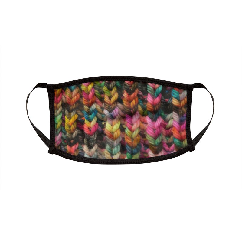Sprankers - brioche stitch knit fabric Accessories Face Mask by Gritty Knits
