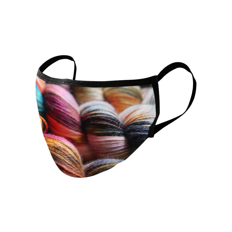 Skeins in the sunlight Accessories Face Mask by Gritty Knits