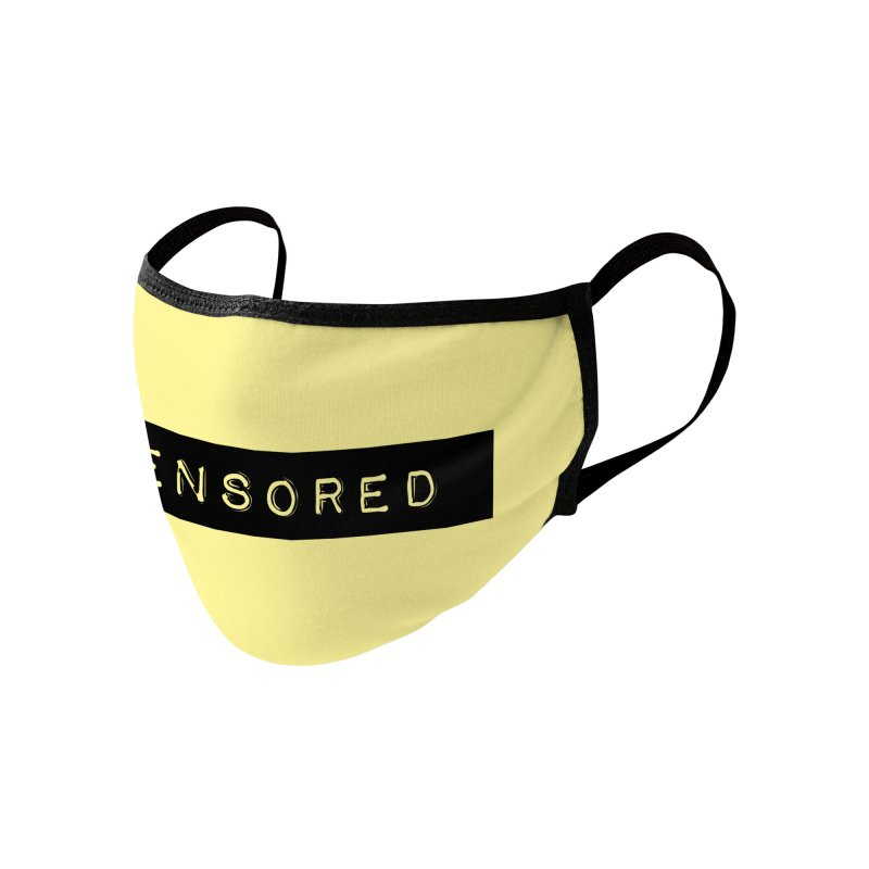 Censored Accessories Face Mask by Gritty Knits