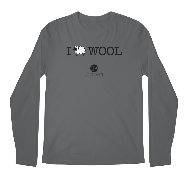 I (sheep) WOOL Men's Longsleeve T-Shirt by Gritty Knits