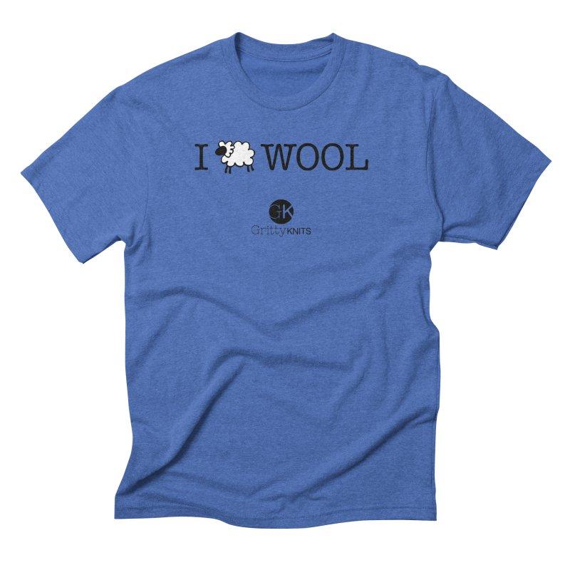 I (sheep) WOOL Men's T-Shirt by Gritty Knits