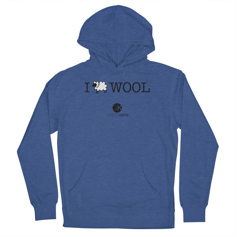 I (sheep) WOOL Men's Pullover Hoody by Gritty Knits