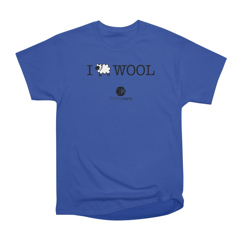 I (sheep) WOOL Men's Heavyweight T-Shirt by Gritty Knits