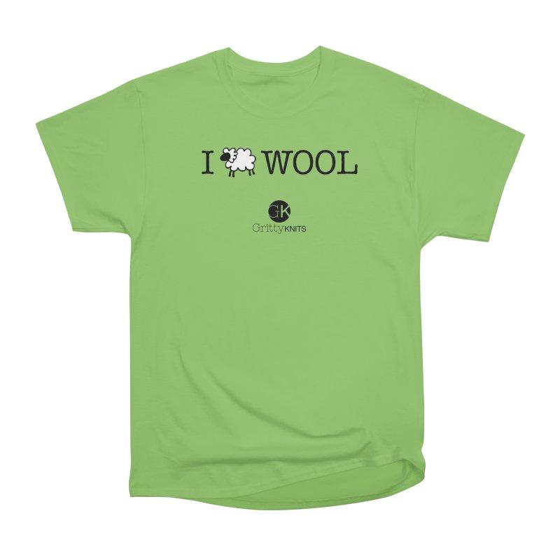 I (sheep) WOOL Men's Heavyweight T-Shirt by Gritty Knits