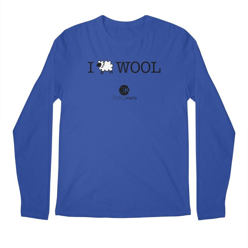 I (sheep) WOOL Men's Regular Longsleeve T-Shirt by Gritty Knits