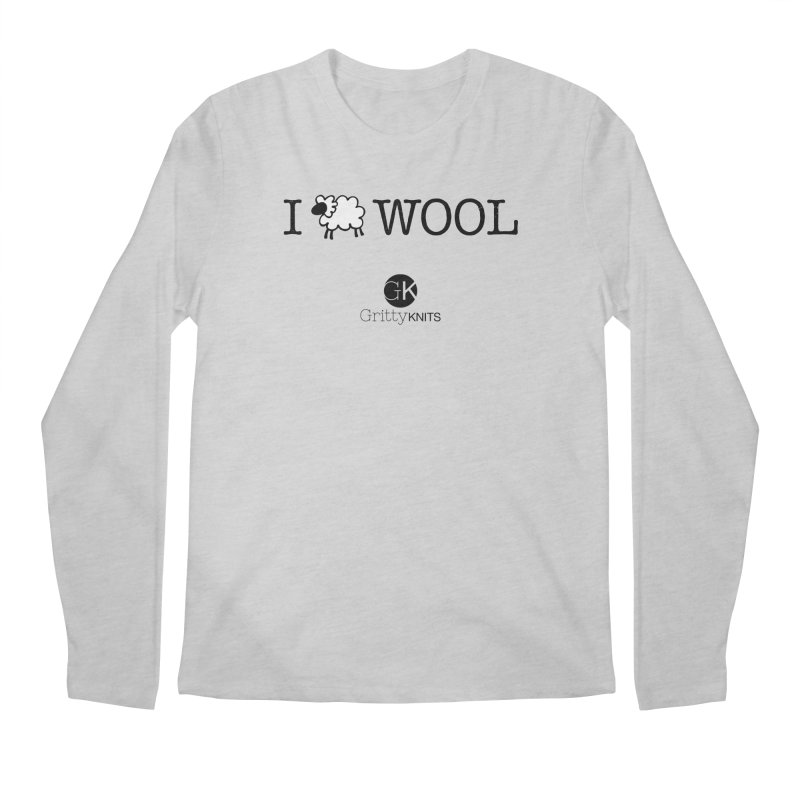 I (sheep) WOOL Men's Regular Longsleeve T-Shirt by Gritty Knits