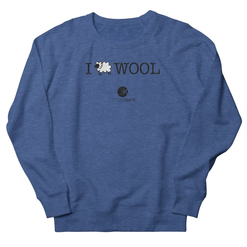 I (sheep) WOOL Men's French Terry Sweatshirt by Gritty Knits