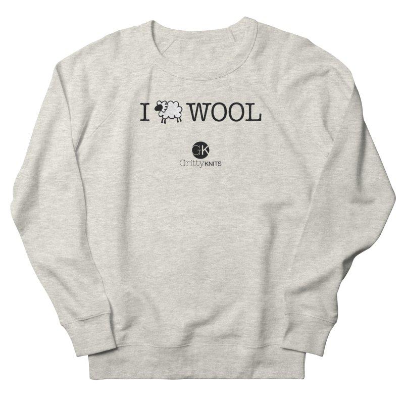 I (sheep) WOOL Men's Sweatshirt by Gritty Knits