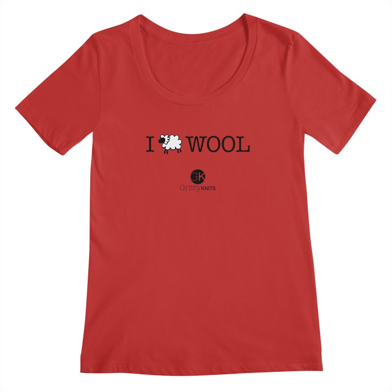 I (sheep) WOOL Women's Regular Scoop Neck by Gritty Knits