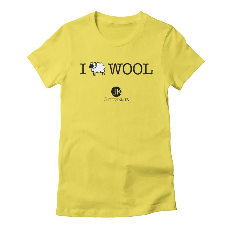 I (sheep) WOOL Women's Fitted T-Shirt by Gritty Knits