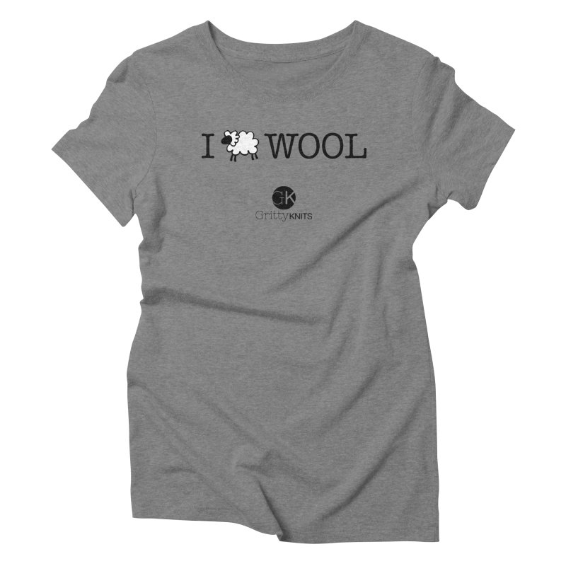 I (sheep) WOOL Women's Triblend T-Shirt by Gritty Knits