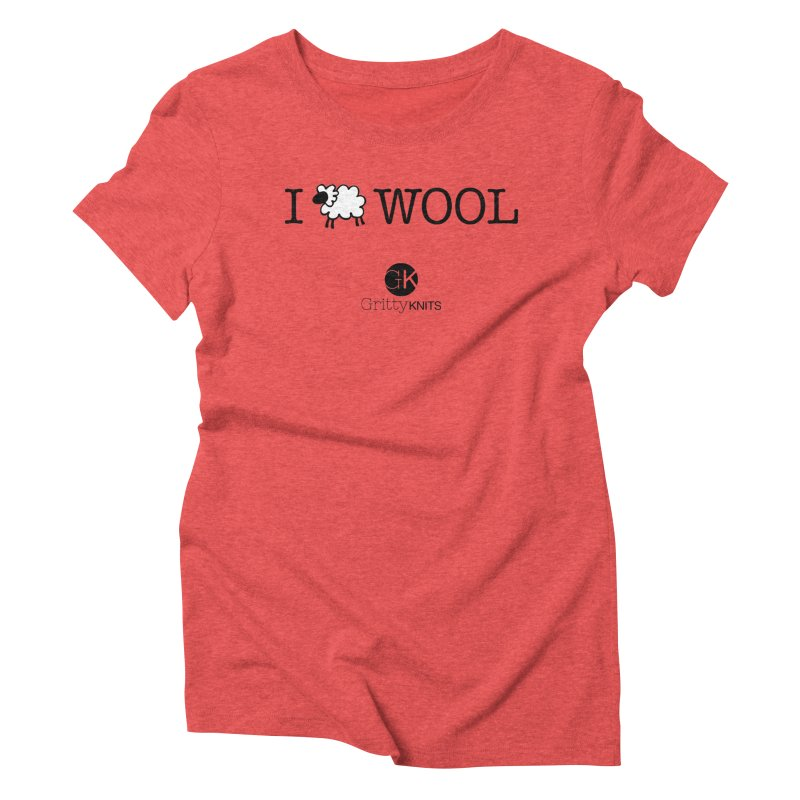 I (sheep) WOOL Women's Triblend T-Shirt by Gritty Knits