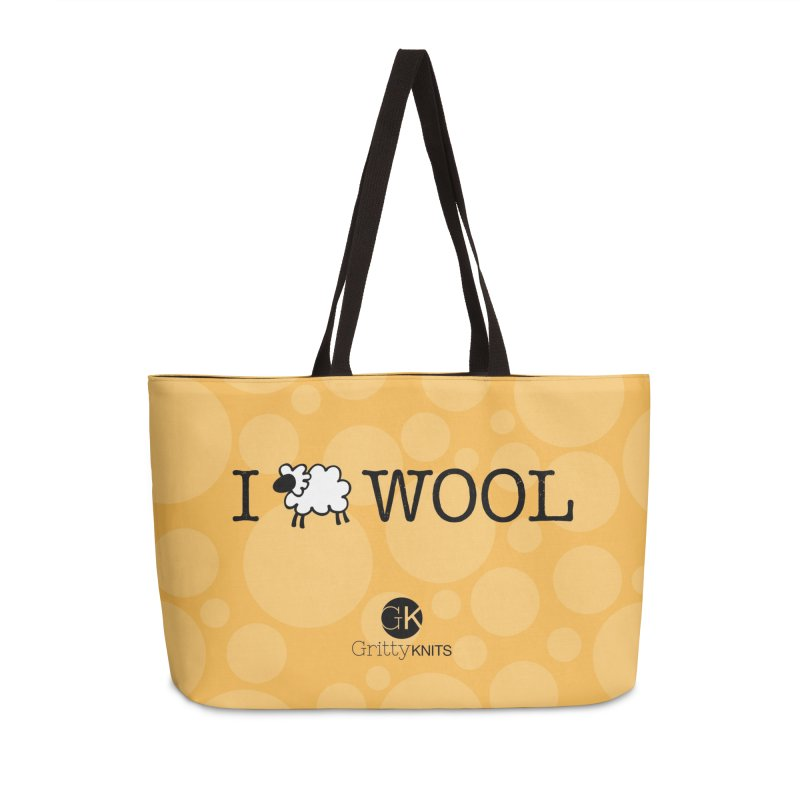 I (sheep) WOOL Accessories Weekender Bag Bag by Gritty Knits