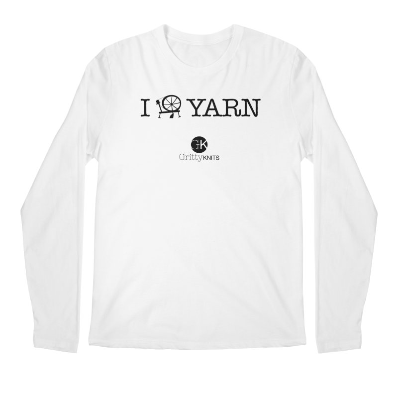 I (spin) YARN Men's Regular Longsleeve T-Shirt by Gritty Knits