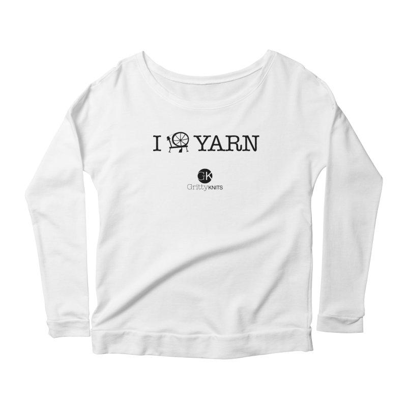 I (spin) YARN Women's Scoop Neck Longsleeve T-Shirt by Gritty Knits