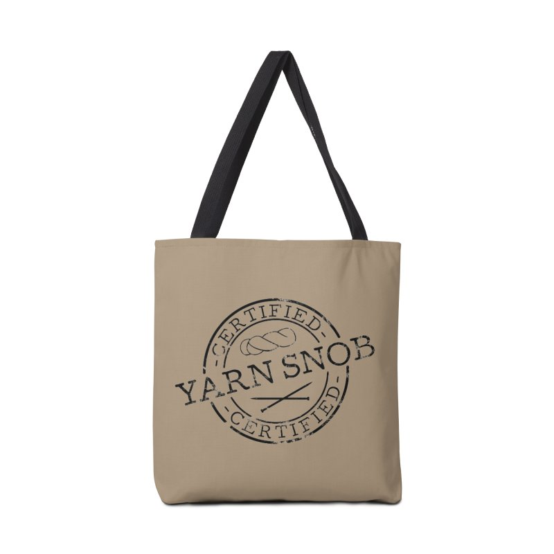 Certified Yarn Snob Accessories Tote Bag Bag by Gritty Knits
