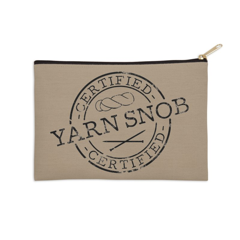 Certified Yarn Snob Accessories Zip Pouch by Gritty Knits
