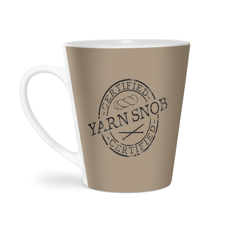 Certified Yarn Snob Accessories Latte Mug by Gritty Knits