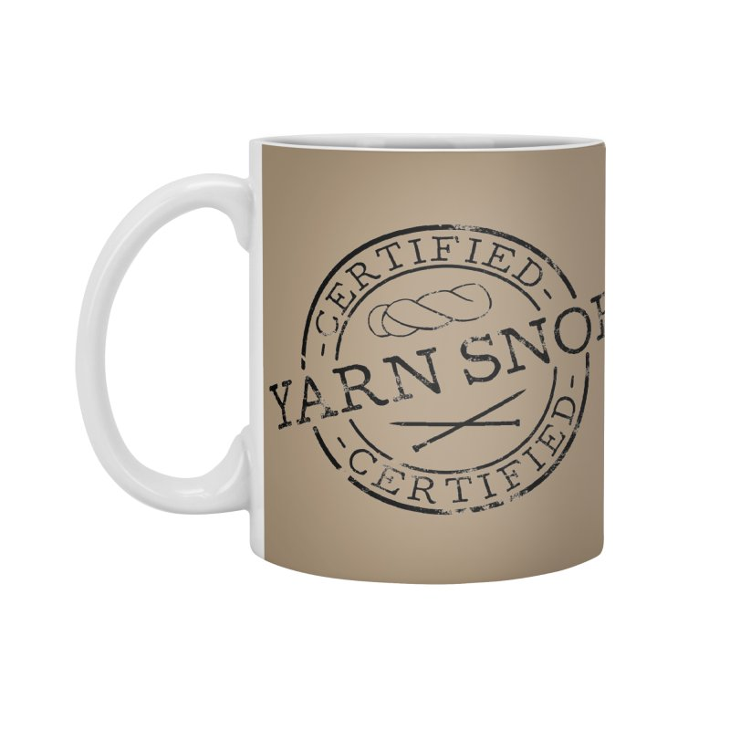 Certified Yarn Snob Accessories Standard Mug by Gritty Knits