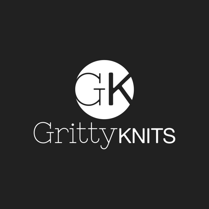 GK - Gritty Knits logo (white) by Gritty Knits