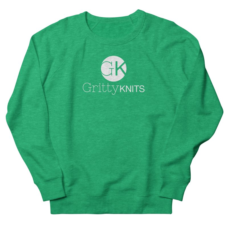 GK - Gritty Knits logo (white) Women's Sweatshirt by Gritty Knits
