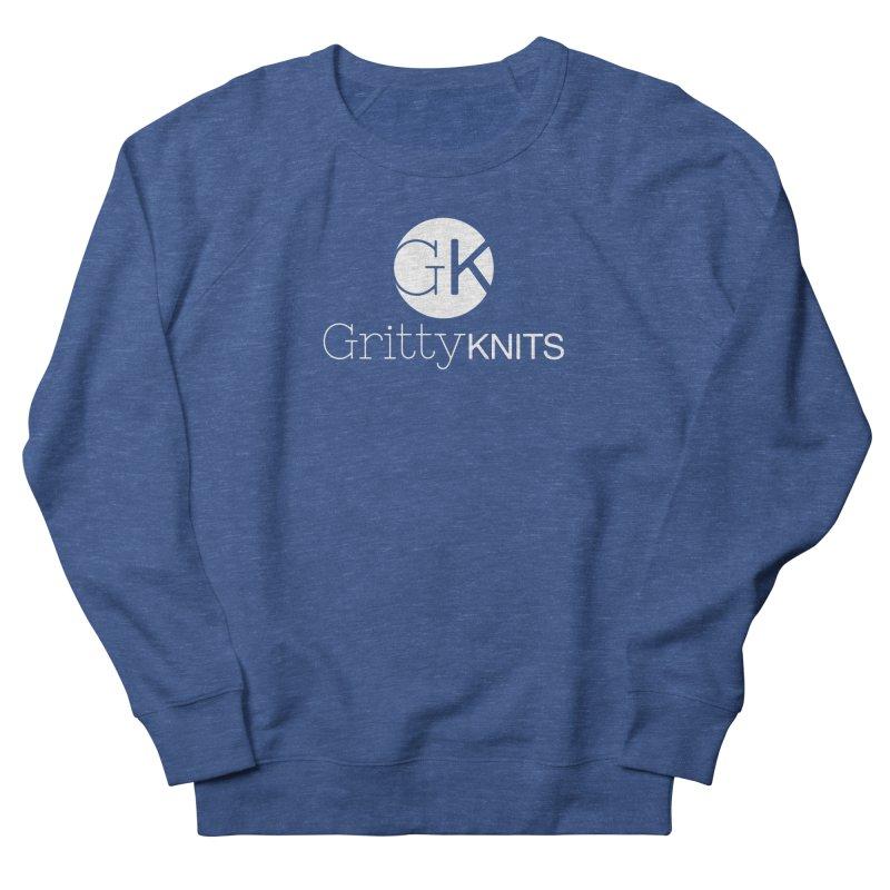 GK - Gritty Knits logo (white) Men's Sweatshirt by Gritty Knits
