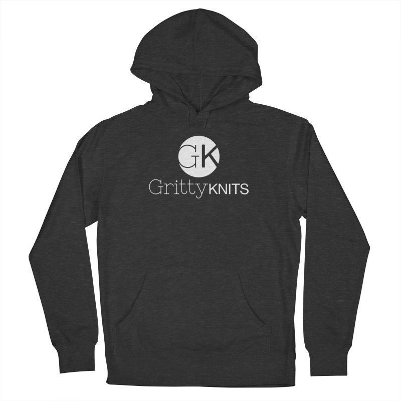 GK - Gritty Knits logo (white) Women's French Terry Pullover Hoody by Gritty Knits