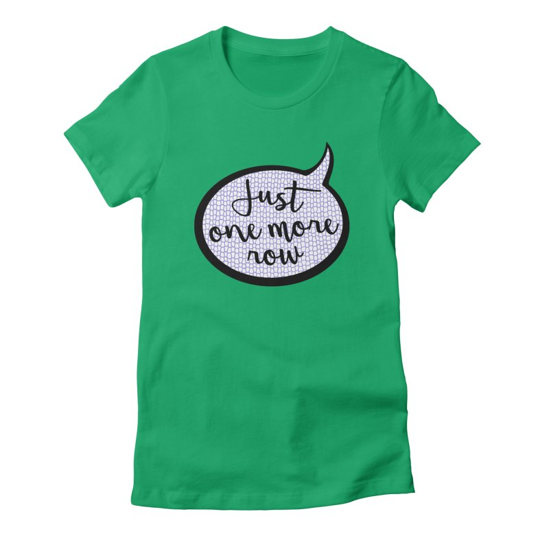 Just One More Row Women's Fitted T-Shirt by Gritty Knits