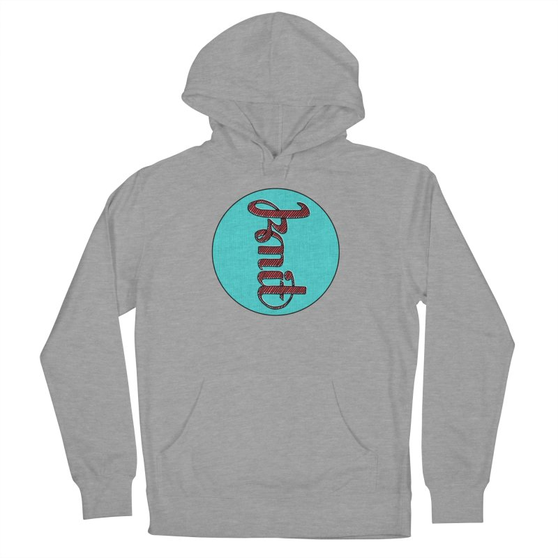 Knit/Purl ambigram Women's French Terry Pullover Hoody by Gritty Knits