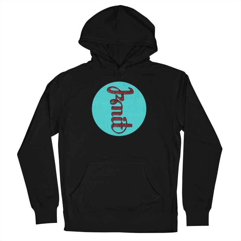 Knit/Purl ambigram Men's French Terry Pullover Hoody by Gritty Knits