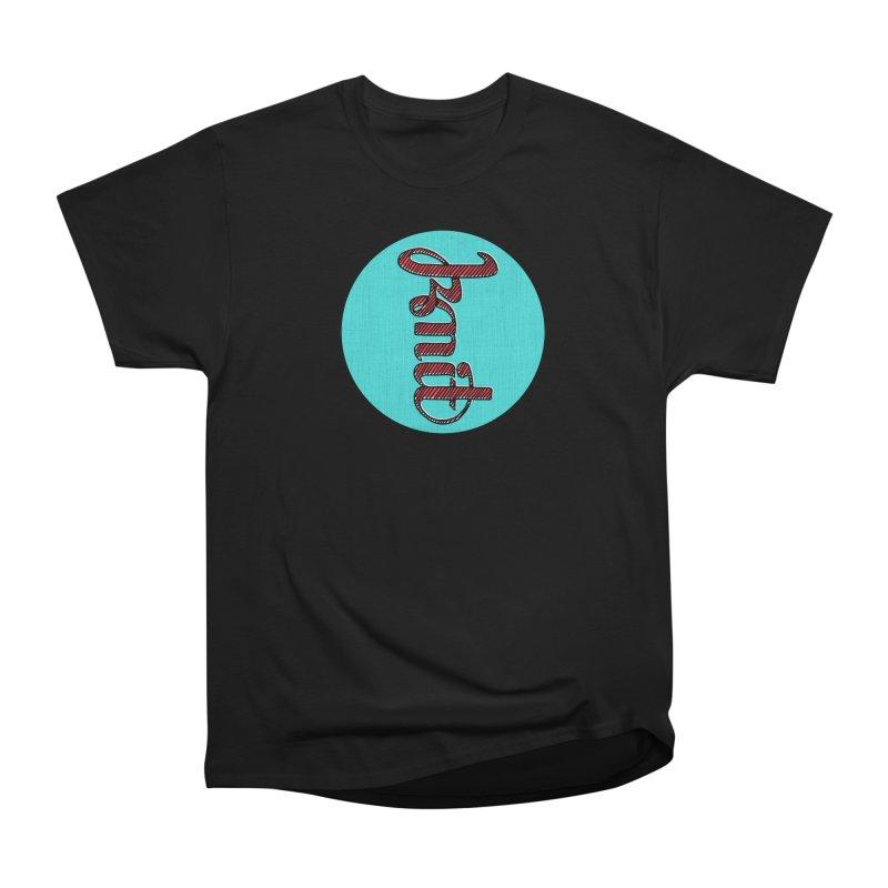 Knit/Purl ambigram Women's Heavyweight Unisex T-Shirt by Gritty Knits