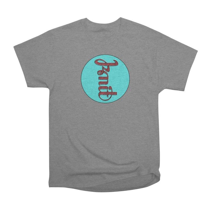 Knit/Purl ambigram Men's Heavyweight T-Shirt by Gritty Knits