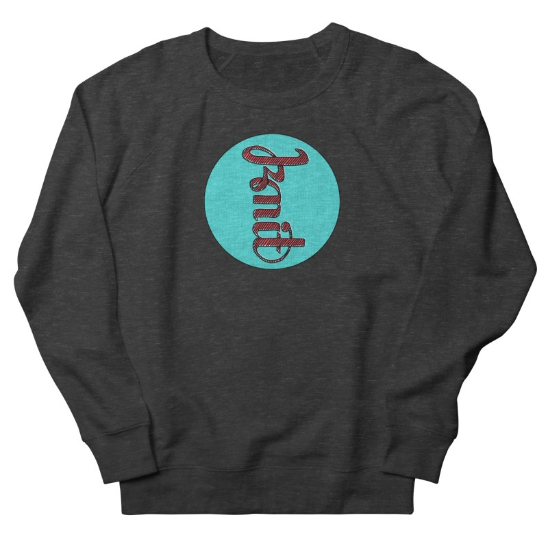 Knit/Purl ambigram Women's French Terry Sweatshirt by Gritty Knits
