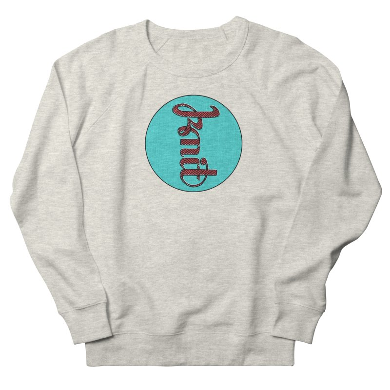 Knit/Purl ambigram Men's French Terry Sweatshirt by Gritty Knits