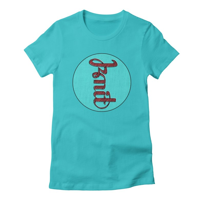 Knit/Purl ambigram Women's Fitted T-Shirt by Gritty Knits