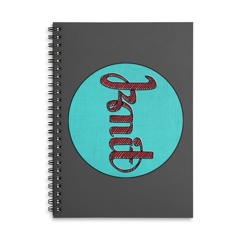 Knit/Purl ambigram Accessories Notebook by Gritty Knits